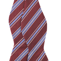 Tok Tok Designs Men's Self-Tie Bow Tie (B340, 100% Silk, Burgundy Color)