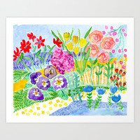 Imaginary Garden Watercolors Collection By Michi-me | Society6