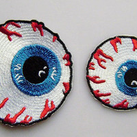Eyeball Embroidery iron on patch 088