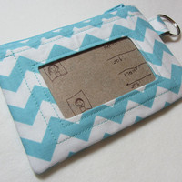 Keychain Wallet with ID Pocket and Split Ring by EarlyBirdStitches