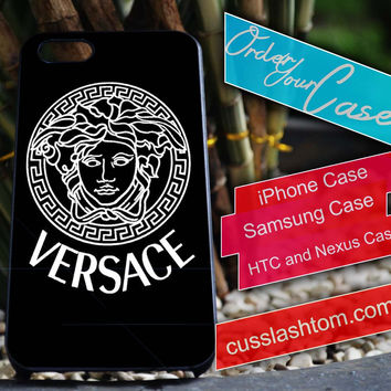 Exclusive Versace iPhone for 4 5 5c 6 Plus Case, Samsung Galaxy for S3 S4 S5 Note 3 4 Case, iPod for 4 5 Case, HtC One M7 M8