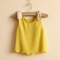 Ariele Scalloped Yellow Top - New Arrivals