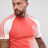 adidas Originals adicolor Raglan California T-Shirt In Red CW1204 at asos.com