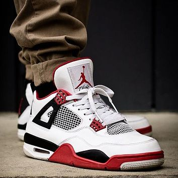 Nike Air Jordan 4 Retro OG Fire Red Basketball Shoes Sneakers Shoes