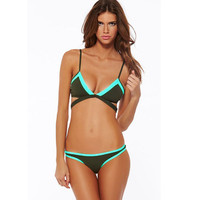 Swimsuit Hot New Arrival Summer Beach Casual Swimwear Sexy Mosaic Bikini [4914904196]
