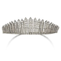 Diamond tiara/necklace, 1880s | lot | Sotheby's