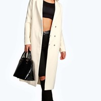Boutique Daisy Longline Tailored Wool Look Coat
