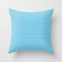 Vintage Blue Throw Pillow by Lauren Lee Designs
