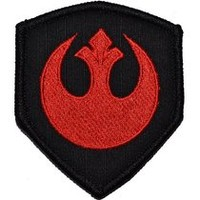 Rebel Alliance Emblem Star Wars 3x2.5 Shield Military Patch / Morale Patch - Black with Red
