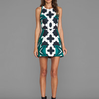Cameo Feel It All Dress in Moroccan Leaf