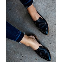 Montana Studded Tassel Loafer Mule - FINAL SALE