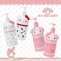 New Hello Kitty Melody Shower Gel Squeeze E Liquid Bottle Plastic Jar Box Hand Sanitizer Bottle Bathroom Accessories