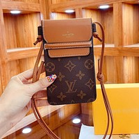 Louis Vuitton LV new style foreign fashion all-match mobile phone bag simple one-shoulder messenger bag-1