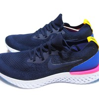 Nike Epic React Flyknit Navy Special Package blue red white sz 7.5, 8.5, 9