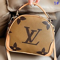 LV New fashion monogram print leather shoulder bag crossbody bag handbag 1#