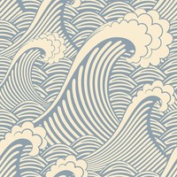 Waves of Chic Wallpaper