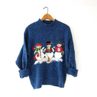 vintage ugly Christmas sweater // tacky christmas sweater // holiday party sweater
