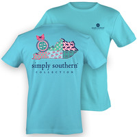 Simply Southern Kentucky KY Chevron Preppy State Pattern Girlie Bright T Shirt