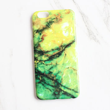 Lime Marble iPhone Case