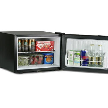 ChillQuiet Mini Fridge 17ltr Black - FREE LOCK | bar@drinkstuff Quiet Running Mi