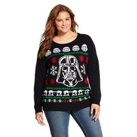 Darth Vader Plus Size Ugly Christmas Sweater Black - Star Wars