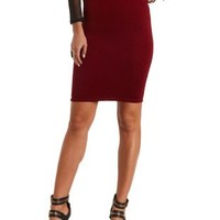 Quilted Bodycon Midi Skirt by Charlotte Russe