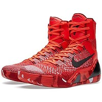 Nike Kobe IX 9 Elite Strategy Knit Stocking 630847-600 Crimson Flyknit Men's Shoes
