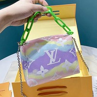 Inseva Louis Vuitton LV Tie-Dye Gradient Women's Chain Tote Crossbody Bag