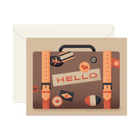 """Hello"" Stickered Luggage Card"