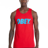 OBEY - FONT BASIC TANK TOP RED