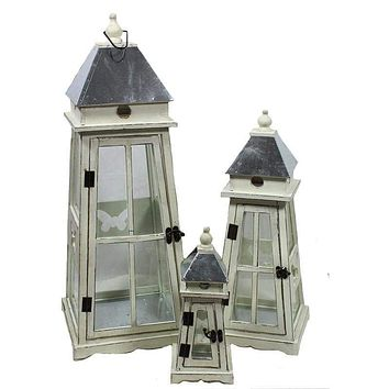Unique and Timeless 3pc Wooden Lantern