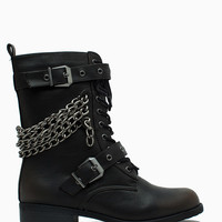 Timberly 119 Pu Multi Chain Double Buckle Combat
