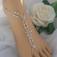 Starfish Foot Jewelry Wedding Starfish Barefoot Sandal & Anklet