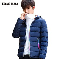 Cotton Thick Hooded Jacket Parka For Men Autumn Winter Casual Windproof Jackets Coat Mens Down Parkas