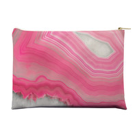 Sweet Pink Agate Pouch