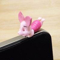 Lovely Lying On Front Piglet Pink Pig Dust Plug by Polaris798
