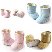 Baby Girls Boys Shoes Warm Suede Leather Berber Fleece Toddler Winter Snow Boots = 1651260612