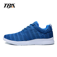 TBA Men's Running Shoes Air Mesh Summer Light Weight Breathable Soft Sneakers Big Man Plus Size 46 47 48 Sport Shoes 1422