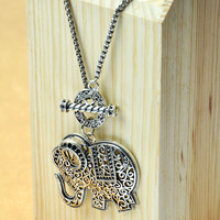 accessoryinlove — Elephant Pendants Long Necklace