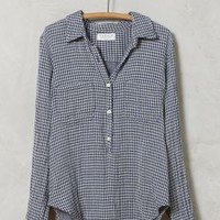 Velvet by Graham and Spencer Gingham High-Low Buttondown