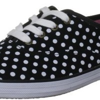 Keds Women's Champion Dot,Black/White Twill,US 5.5 M