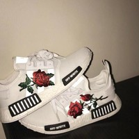 Adidas x Off-White NMD Boost Women Casual Sports Shoes Sneakers