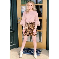 Wild at Heart Leopard Skirt {Brown Mix} - Size SMALL