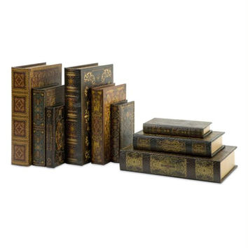 9 Book Boxes - Hollow On Inside For Storage