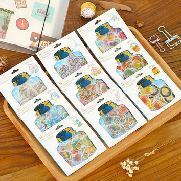 Creative Drifting Bottle Sealing Stickers Pack Diary Label Stickers Decorative Mobile Stickers Scrapbooking DIY Stickers