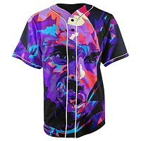 Kobe Bryant Button Up Baseball Jersey