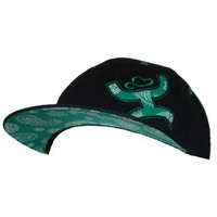 Men's CapsCowboy Hooey Joe Black And Green Flat Bill