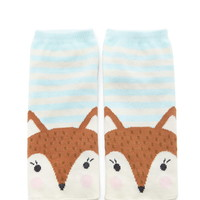 Fox Graphic Striped Ankle Socks   Forever 21 - 2000203056