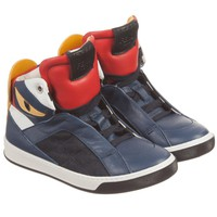 Boys 'Monster' High-Top Leather Sneakers