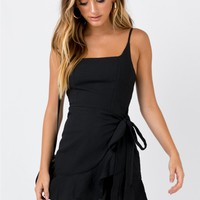 Love Lane Mini Dress Black | Princess Polly